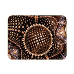 Brown Fractal Balls And Circles Double Sided Flano Blanket (mini)  by BangZart