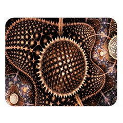 Brown Fractal Balls And Circles Double Sided Flano Blanket (large)  by BangZart