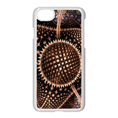 Brown Fractal Balls And Circles Apple Iphone 7 Seamless Case (white) by BangZart