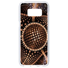 Brown Fractal Balls And Circles Samsung Galaxy S8 White Seamless Case
