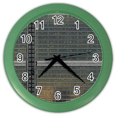 Building Pattern Color Wall Clocks by BangZart