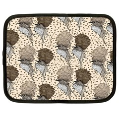 Bouffant Birds Netbook Case (large)