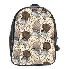 Bouffant Birds School Bags (xl)