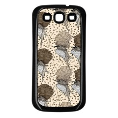 Bouffant Birds Samsung Galaxy S3 Back Case (black) by BangZart
