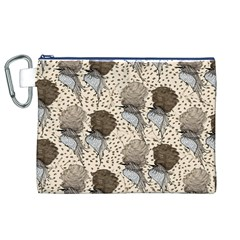 Bouffant Birds Canvas Cosmetic Bag (xl) by BangZart