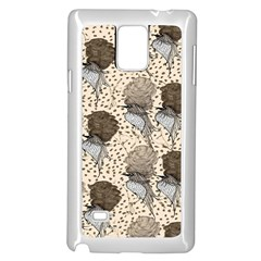 Bouffant Birds Samsung Galaxy Note 4 Case (white)