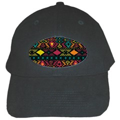 Bohemian Patterns Tribal Black Cap by BangZart
