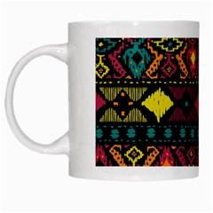 Bohemian Patterns Tribal White Mugs by BangZart