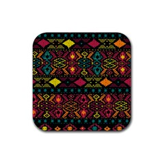 Bohemian Patterns Tribal Rubber Square Coaster (4 Pack)  by BangZart