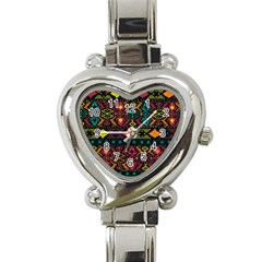 Bohemian Patterns Tribal Heart Italian Charm Watch by BangZart