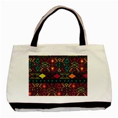 Bohemian Patterns Tribal Basic Tote Bag by BangZart