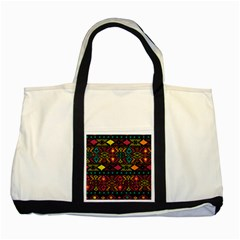 Bohemian Patterns Tribal Two Tone Tote Bag by BangZart