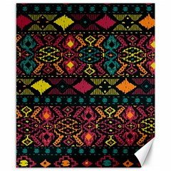 Bohemian Patterns Tribal Canvas 8  X 10  by BangZart