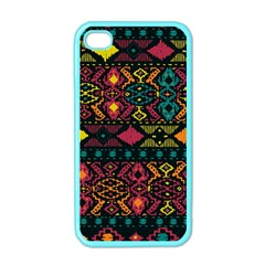 Bohemian Patterns Tribal Apple Iphone 4 Case (color)