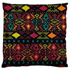 Bohemian Patterns Tribal Large Cushion Case (one Side) by BangZart