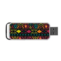 Bohemian Patterns Tribal Portable Usb Flash (one Side) by BangZart