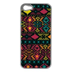 Bohemian Patterns Tribal Apple Iphone 5 Case (silver)