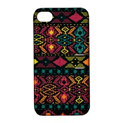 Bohemian Patterns Tribal Apple Iphone 4/4s Hardshell Case With Stand