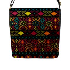 Bohemian Patterns Tribal Flap Messenger Bag (l)
