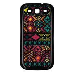 Bohemian Patterns Tribal Samsung Galaxy S3 Back Case (black)