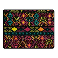 Bohemian Patterns Tribal Double Sided Fleece Blanket (small)