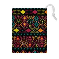Bohemian Patterns Tribal Drawstring Pouches (extra Large)