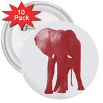 Pink Elephant 3  Button (10 pack)