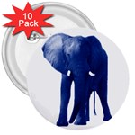 Blue Elephant 3  Button (10 pack)