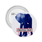 Blue Elephant  Protected  2.25  Button