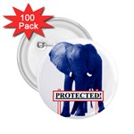 Blue Elephant  Protected  2.25  Button (100 pack)