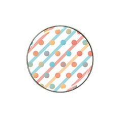 Simple Saturated Pattern Hat Clip Ball Marker (10 Pack) by linceazul