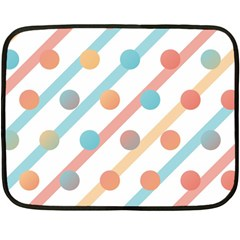 Simple Saturated Pattern Double Sided Fleece Blanket (mini)  by linceazul
