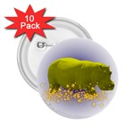 Hippo Sparkle 2.25  Button (10 pack)