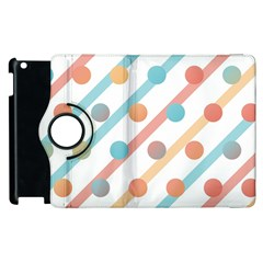 Simple Saturated Pattern Apple Ipad 3/4 Flip 360 Case by linceazul
