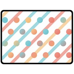 Simple Saturated Pattern Double Sided Fleece Blanket (large)  by linceazul