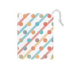 Simple Saturated Pattern Drawstring Pouches (medium)  by linceazul