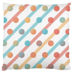 Simple Saturated Pattern Large Flano Cushion Case (two Sides) by linceazul