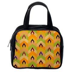 Funny Halloween   Bat Pattern 1 Classic Handbags (one Side) by MoreColorsinLife