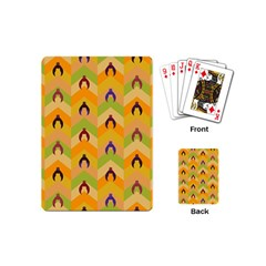 Funny Halloween   Bat Pattern 1 Playing Cards (mini)  by MoreColorsinLife