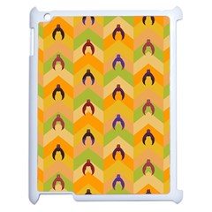 Funny Halloween   Bat Pattern 1 Apple Ipad 2 Case (white) by MoreColorsinLife