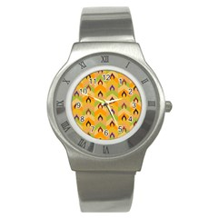 Funny Halloween   Bat Pattern 1 Stainless Steel Watch by MoreColorsinLife