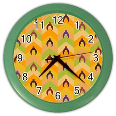 Funny Halloween   Bat Pattern 1 Color Wall Clocks by MoreColorsinLife
