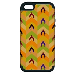 Funny Halloween   Bat Pattern 1 Apple Iphone 5 Hardshell Case (pc+silicone) by MoreColorsinLife