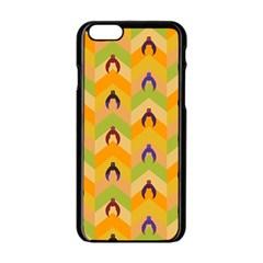 Funny Halloween   Bat Pattern 1 Apple Iphone 6/6s Black Enamel Case by MoreColorsinLife