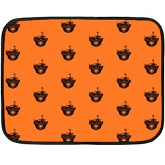 Funny Halloween   Burned Skull Pattern Double Sided Fleece Blanket (mini)  by MoreColorsinLife