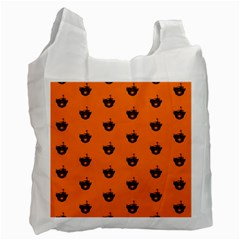 Funny Halloween   Burned Skull Pattern Recycle Bag (two Side)  by MoreColorsinLife