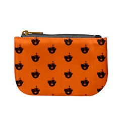 Funny Halloween   Burned Skull Pattern Mini Coin Purses by MoreColorsinLife