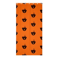 Funny Halloween   Burned Skull Pattern Shower Curtain 36  X 72  (stall)  by MoreColorsinLife