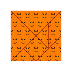 Funny Halloween   Face Pattern Acrylic Tangram Puzzle (4  X 4 )