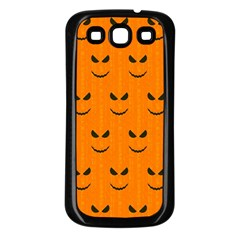 Funny Halloween   Face Pattern Samsung Galaxy S3 Back Case (black)